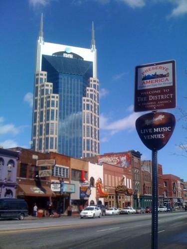 Nashville Broadway Skyline