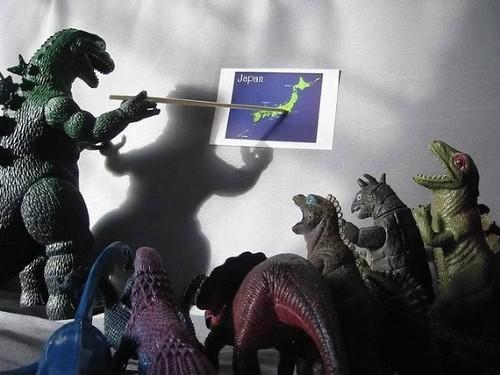 [Photo Freak] Godzilla y sus colegas preparándose para atacar Japón