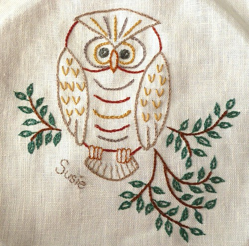 Owl Embroidery for Fruitloops