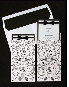 Black And White Wedding Invitations-Seduction por leedbrooker.