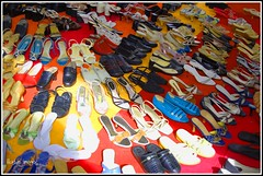 .. of everykind (itsillusion[i'm alive!]) Tags: colors shoes colorful sunday footwear karachi defence bazar chappal