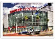 staples center (Kris Kros) Tags: street cloud building sports car basketball architecture photoshop photography la losangeles los high nikon downtown dynamic angeles pickup center arena kris playoffs d200 figueroa 12th 2008 nba lakers range staples hdr clippers kkg cs3 photomatix kros kriskros 5xp kk2k kkgallery