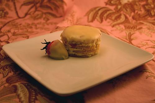 Mini round opera cake