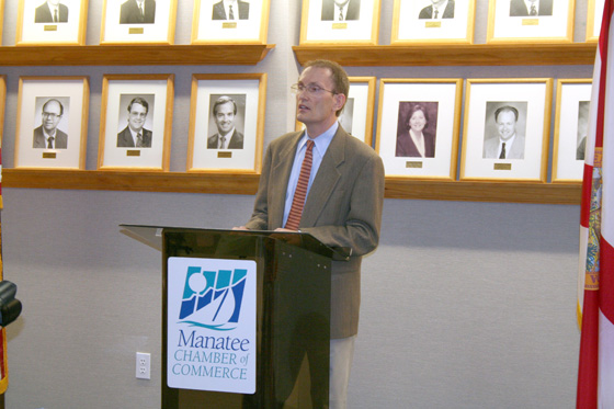 Bill Bulick at the announcement of the Bradenton Business and Cultural Alliance