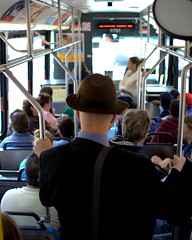(Brian Hagy) Tags: travel chicago man bus public hat cta publictransportation ride 28mm il transportation transit rider gettingthere ctaproject