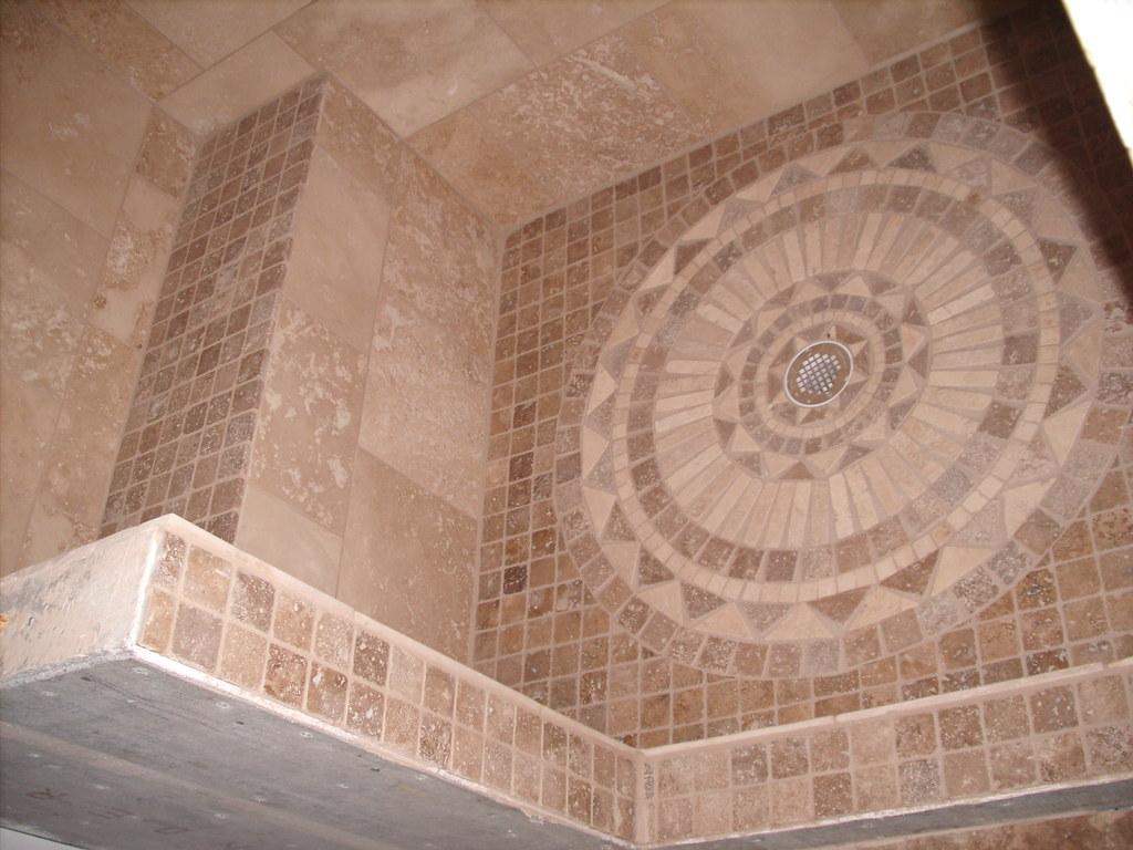 Floor tile medallion tile shower floor dailygadgetfo Gallery