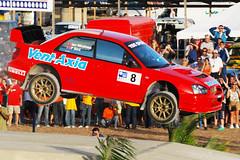 Paul Bird Air (Matt_Daniels) Tags: rally wrc subaru barbados impreza s9 bushypark rallybarbados d40x paulbird 2008solrallybarbados