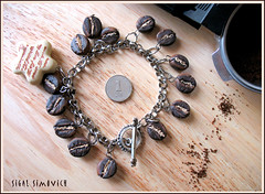 Coffee beans - Beads -  (sigal simovich) Tags: sculpture coffee fimo clay coffeebeans polymer