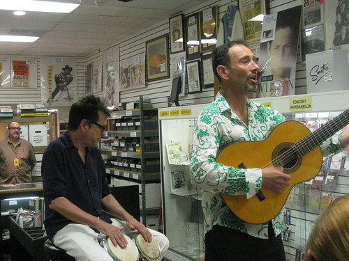 Jonathan Richman, Rockaway Records, 6-7-08