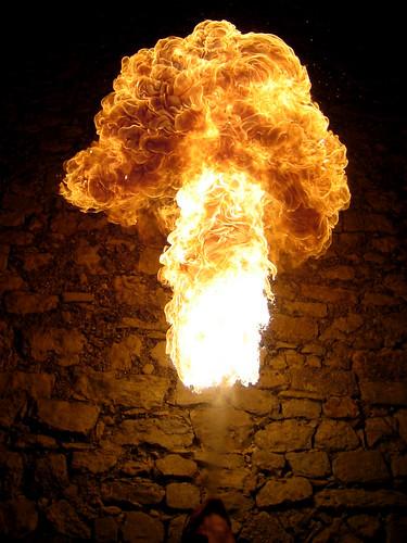 Colonne de flammes