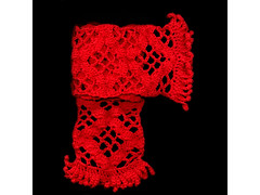 shell trellis scarf (Jellibat) Tags: red scarf scanner crochet craft australia scan fabric etsy jellibat rotrossorougerood