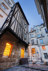 An Old Medieval House of Paris II HDR (David Giral | davidgiralphoto.com) Tags: street old david paris france architecture night lights evening wooden europe dusk sigma medieval capitale d200 soire 1020mm crpuscule middleages sigma1020mm giral sigma1020 nikond200 copyrightdgiral davidgiral kissesfromthailand