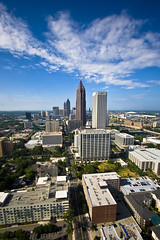 Midtown Atlanta Skyline from Viewpoint Atlanta Building (lee.starnes) Tags: atlanta urban skyline skyscraper georgia buzz photography downtown tech atl over descent midtown climbing lee edge dome bankofamerica ropes georgiatech abseiling alumni jackets peachtree peachtreestreet georgiadome repelling abseil overtheedge repel lcs starnes alumniassociation georgiainstituteoftechnology leestarnes lcsphotography viewpointmidtown