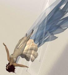 Husk - AM Radio (Hitomi Mokusei) Tags: blue wind avatar sl secondlife animation husk nmc virtualworld amradio flowingfabric hitomimokusei nmcartslab