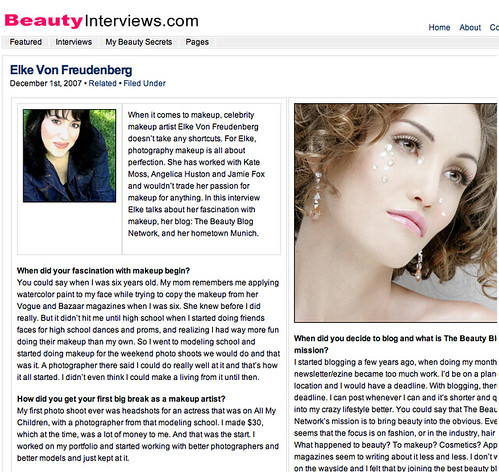 "Beauty Interviews.com • <a style=""font-size:0.8em;"" href=""http://www.flickr.com/photos/13938120@N00/2644474012/"" target=""_blank"">View on Flickr</a>"