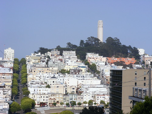 The View from the Top of Lombard Street
