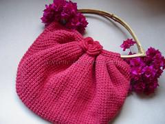 fat bag croche tunisiano (gixlene) Tags: crochet vermelho bolsa tunisian croche fatbag tunisiano
