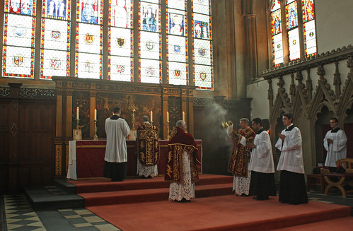 Incensing the sub-deacon