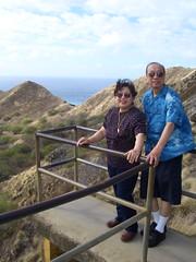 Ketpuras overlooking south ridge of Diamond Head