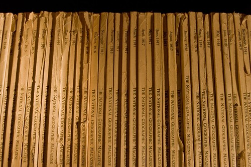 National Geographic spines