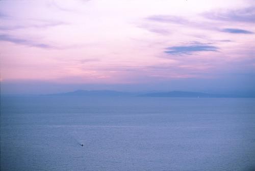 Lone Boat - Dusk at Heda