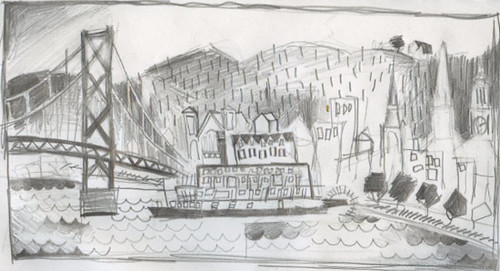Delta Queen in Maysville sketch