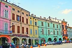 COLORNO CITY (Loris_l@_r@na) Tags: orange brown verde green rose yellow bar place rosa giallo bologna parma piazza caffe arancione marrone posta colorno lorisphoto