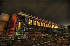 Ghost Train (Static Sparks) Tags: railroad train d50 nikon blues railcar missouri traincar dining arkansas passenger biloxi hdr arkansasphotographer 1000000railcars staticsparks wwwhdrspottingcom josephsparks photographerinnorthwestarkansas