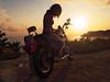 Sunset Rider (Sator Arepo) Tags: sunset shadow sea summer sun bike backlight landscape freedom evening reflex wheels engine olympus harley harleydavidson motorcycle vehicle custom polarizer rider zuiko sportster salou 883 e500 883r uro 1454mm capsalou zd1454mm sunsetrider retofz090131 retofz090825 gettyimagesspainq1 iberiastreets