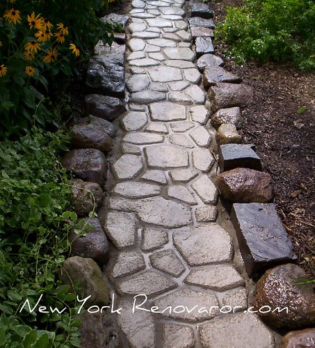Walkway with Mortar