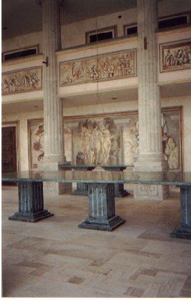 Partenon de Durazo: la mesa en la sala