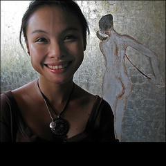 Happiness is a silver lacquer painting (NaPix -- (Time out)) Tags: life portrait woman art love face painting studio happy artist happiness explore hanoi emotions tms lacquer tellmeastory fpg theworldthroughmyeyes twtme visiongroup lacquerpainting theflickrportraitgallery napix artofimages daoanhkhanh oanhkhnh bestportraitsaoi