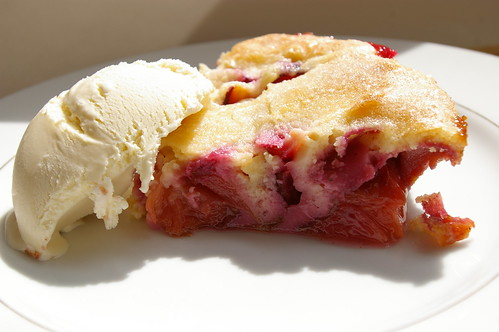 Plum Cake and Ice Cream