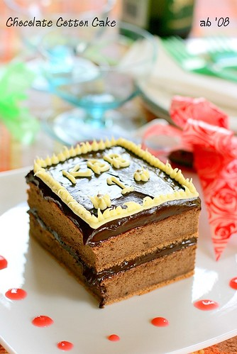 chocolate cotton cake - kbb birthday cake