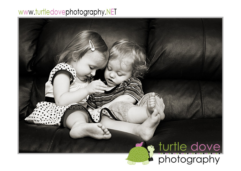 I always prefer black and whites of my kids :)
