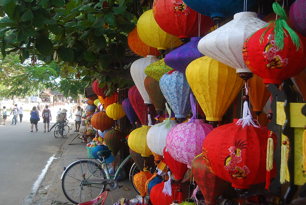 Lámparas y faroles en Hoi An
