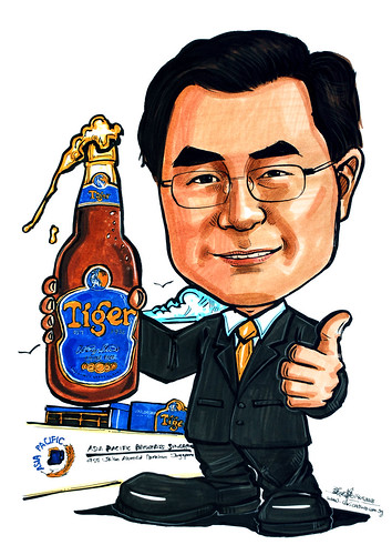 Caricature for Asia Pacific Brewery