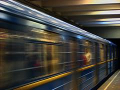 Never stop moving! (Che-burashka) Tags: people speed train movement metro ukraine kiev whiteshirt abus movingtrain urbanlyric