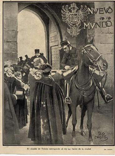 El alcalde de Toledo entrega las llaves de la ciudad a Alfonso XIII en 1904