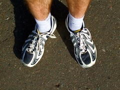 Socks and running shoes