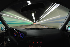 10.5mm Fisheye & VW Golf GTI; together in the tunnel (Toni_V) Tags: auto longexposure motion blur car topv111 vw golf volkswagen movement nikon driving tripod zurich perspective tunnel fisheye zrich gti 2008 gitzo 18t whiledriving d300 105mmf28gfisheye inspiredbylove arcaswiss schneich toniv gt1540 theperfectphotographer toniv monoballz1 lesamisdupetitprince novavitanewlife 27092008 flickrsmasterpieces