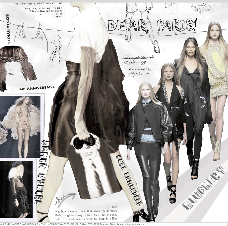 Givenchy, Karl Lagerfeld + Sonia Rykiel SS09