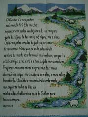 Salmo 23 - ponto cruz (Maria Moraes) Tags: bordado pontocruz pontoatrás