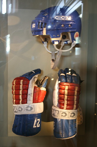 U.S. Olympic Hockey Team Helmet and Gloves, 1980