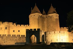 Carcassonne_2008 (16) (cpando1974) Tags: france castle stone night view towers medieval knights carcassonne cathars