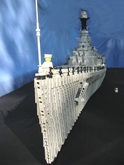 finished 4 (Lego Monster) Tags: war ship lego navy ww2 hood battleship combat naval cruiser warship hms worldwartwo battlecruiser histrory