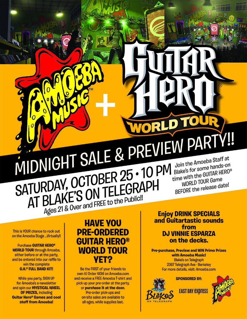 GUITAR HERO®: WORLD TOUR Midnight Sale And Preview Party!