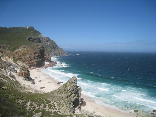 Beach along the cliff walk