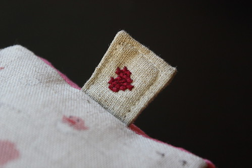 fabric baby block tag