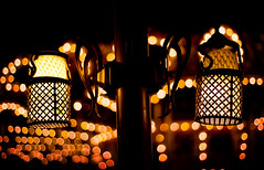 Lamps (isayx3) Tags: night 50mm lights nikon bokeh disneyland lamps 18 d3 fifty nifty challengeyouwinner flickrchallengewinner creativecomments thechallengefactory